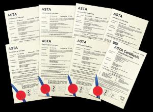 ASTA Certificates