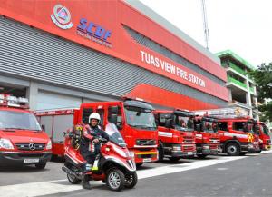 Tuas View Fire Station at 7 Tuas Road